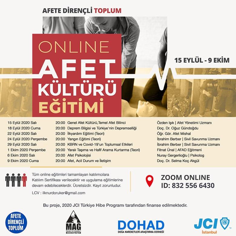 online afet kültürü eğitimi